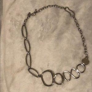 "Modern Girl Silver 17"" Necklace LuLu Avenue"